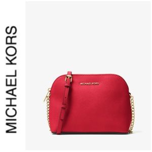 Michael Kors Bags - NWT authentic MK leather Cindy dome crossbody red